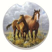 Counter Art Horses Car Coaster