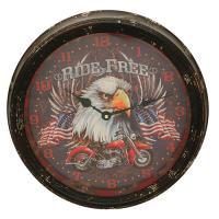 """Motorcycle Metal Clock 15"""""""