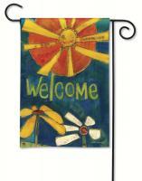 Magnet Works Sunny Welcome Garden Flag