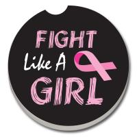 Counter Art Fight Like a Girl Car Coaster
