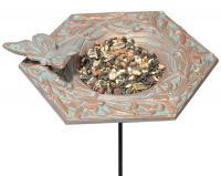 Whitehall Butterfly Garden Bird Feeder - Copper Verdi