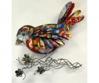 Blue HandWorks Recycled Metal Bird Wall Decor