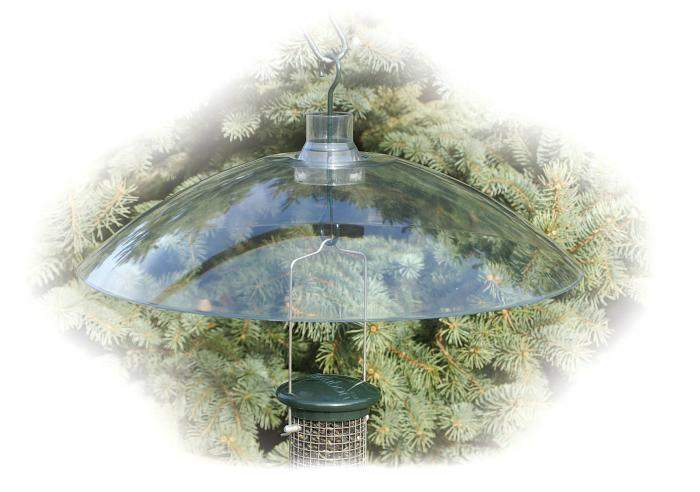 "Woodlink 16"" Clear Plastic Squirrel Baffle"