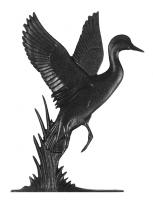 """30"""" Duck Weathervane - Rooftop Black"""