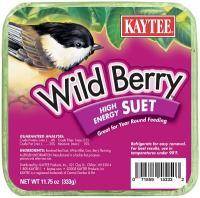 Kaytee Wild Berry High Energy Wild Bird Suet Cake, 11.75 Oz