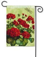 Magnet Works Geraniums Garden Flag