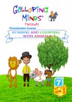 Galloping MindsPreschooler Learns Numbers and Counting w/ Animals DVD