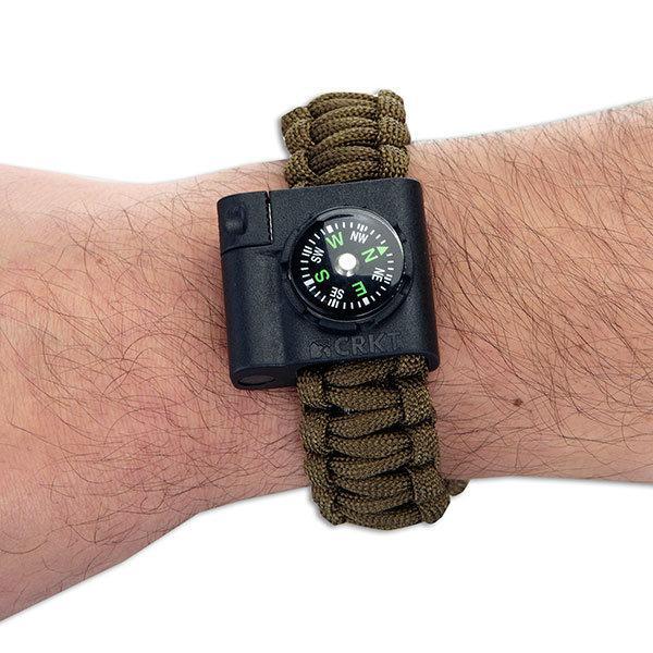Columbia River (CRKT) Paracord Survival Bracelet Accessory, Compass & Fire Starter