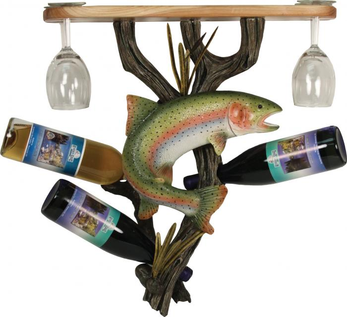 Rivers Edge Products Trout Wine Shelf Holder
