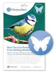 Bird's Choice Window Alert Butterfly Decals