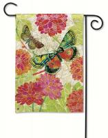 Magnet Works Boutique Butterflies Garden Flag