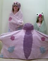 Butterfly Hooded Towel - Large