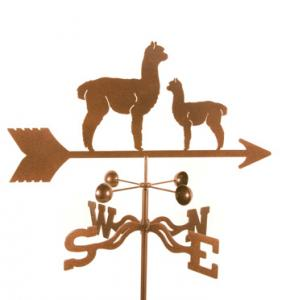 EZ Vane Alpaca and Baby Weathervane