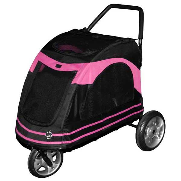 """Pet Gear Roadster Pet Strollers Black / Pink 33"""" x 20"""" x 21"""""""