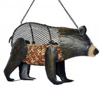 Outside-Inside Brown Bear Mesh Birdfeeder