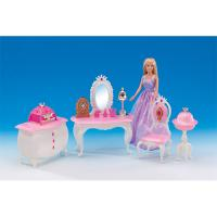 6 In 1 Princess Dollhouse Furniture Set