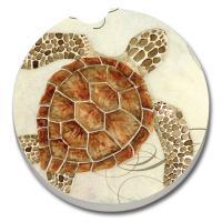 Counter Art Sea Turtle Car Coaster