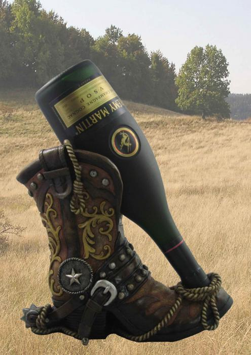 DWK Cowboy Boot Wine Holder