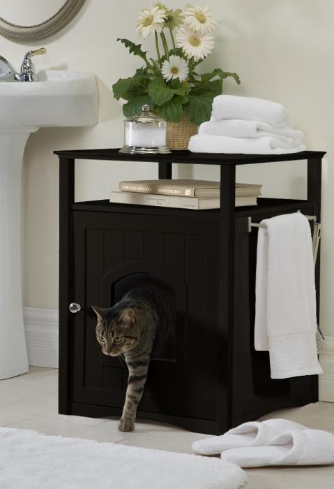 Merry Product Espresso Color Cat/Dog Washroom/House