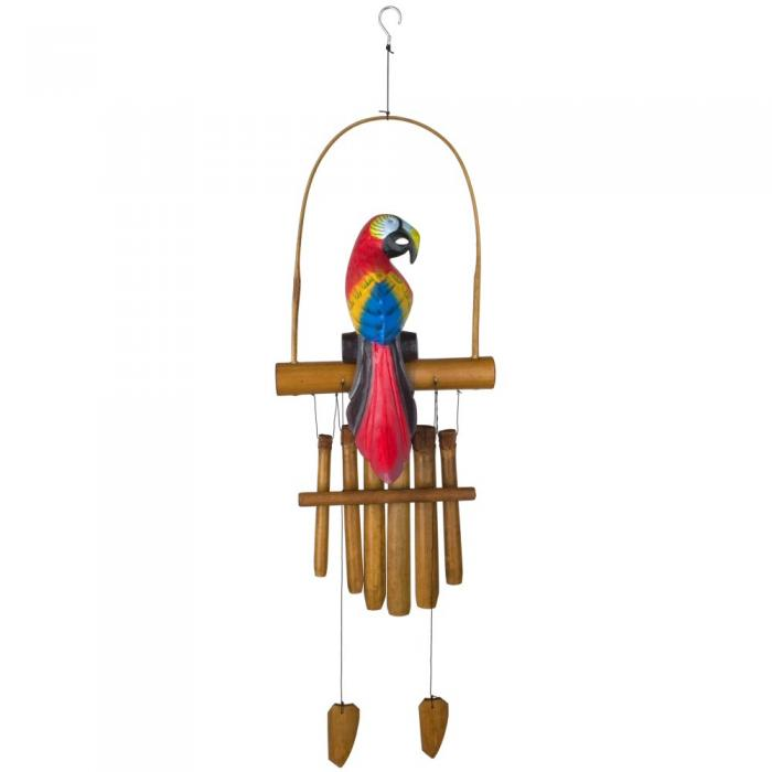 Woodstock Chimes Animal Bamboo Chime - Parrot