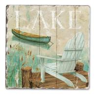 Counter Art Lakeside Tumbled Tile Coasters, Set of 4
