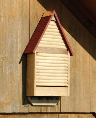 Heartwood Bat Lodge Bat House, Natural with Redwood Roof