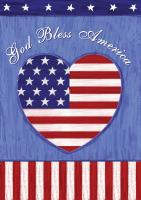 Toland God Bless U.S. Garden Flag
