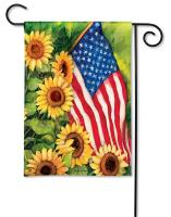 Magnet Works American Sunflowers Garden Flag