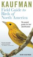 Peterson Books Kaufman Field Guide to Birds of North America, New Style