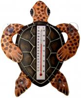 Songbird Essentials Brown Turtle Small Window Thermometer
