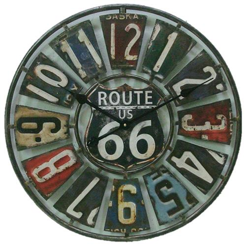 """Springfield 22 Route 66 License Plate Clock""""""""2"""" Route 66 License Plate Clo"""""""""""" Route 66 License Plate Cl"""""""" Route 66 License Plate Cl"""""""