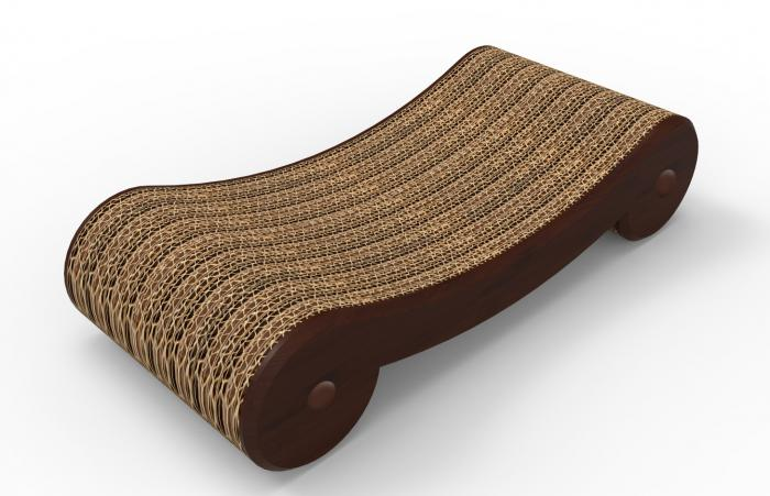 Merry Products Cat Scratcher Bed