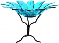 Couronne Company 6 inch Daisy Bowl with Branch Stand Aqua