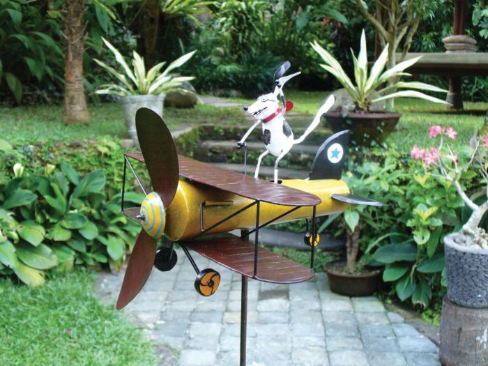 Blue HandWorks Aviator Spike Whirligig