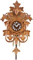 Quartz Clock with Hand-carved Vines & Leaves - Cuckoo Chime - 7.5 Inches Tall