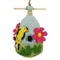 DZI Handmade Designs Cosmo Goldfinch Felt Birdhouse