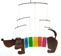 Blue HandWorks Rainbow Dachsie Mobile