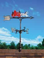 "30"" Fire Wagon Weathervane - Rooftop Color"