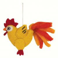 DZI Handmade Designs Chicken Woolie Fingerpuppet Ornament
