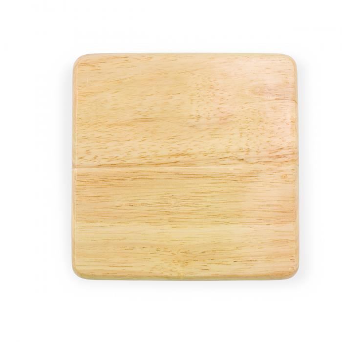 Picnic Time 6x6 Wood Cheese Board