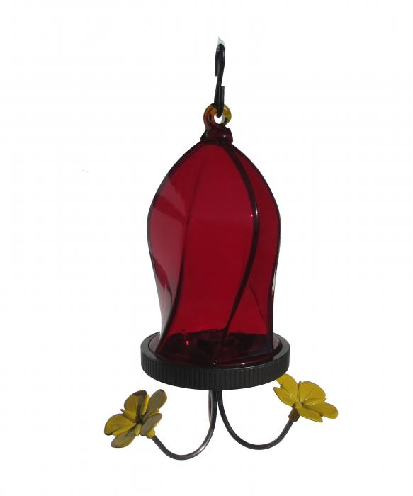 Nature's Way Twisted Jewel Bottom Fill Red Hummingbird Bird Feeder