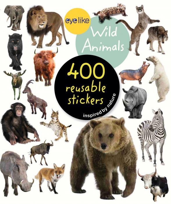 Workman Publishing Eyelike Wild Animals 400 Reusable Stickers