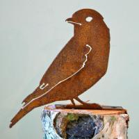 Elegant Garden Design Bluebird Bird Silhouette