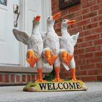 Design Toscano Delightful Dancing Ducks Welcome Statue