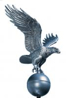 Medium Flagpole Eagle - Pewter