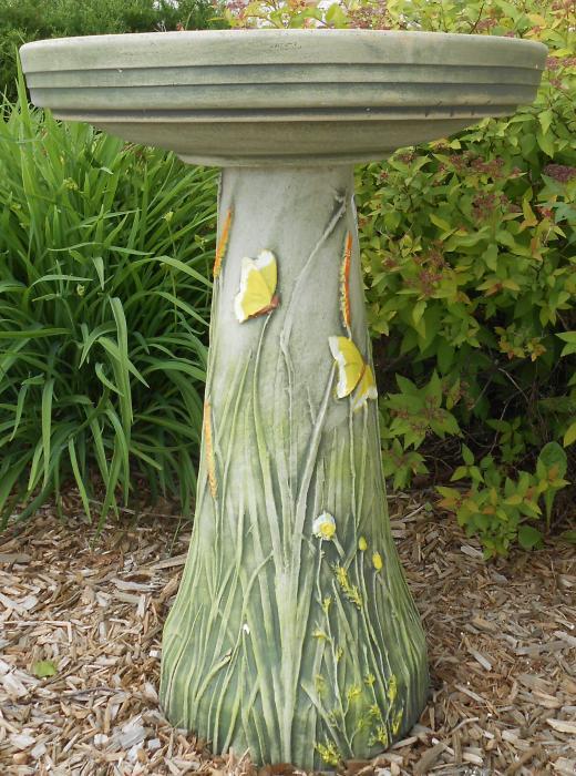 Bird's Choice Clay Butterfly Bird Bath