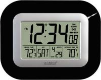 La Crosse Technology Atomic Digital Wall Clock w/ IN/OUT Temp - Black