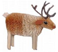Brushart Reindeer Ornament