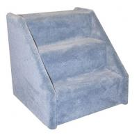 Extra Wide 3 Step Dog Steps - Blue