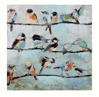 Giftcraft Birds on a Wire Stretched Canvas Oil Painting